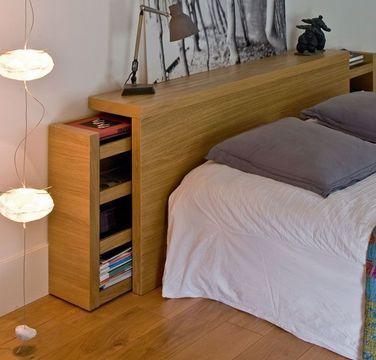 rangement tête de lit