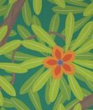 Tête de lit Vert Jennyfer Yerkes Fleurs d'Inde