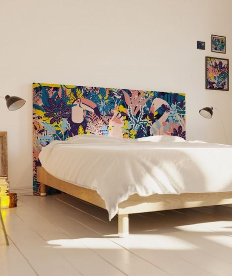 Tête de lit 160 cm Bleu Turquoise Morgane Bezou Faune