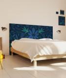 Tête de lit 160 cm Bleu Morgane Bezou Kaléidoscope