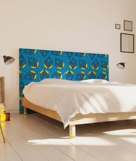 Tête de lit 160 cm Bleu Myriame El Jorfi Bar'