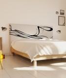 Tête de lit 160 cm Noir Blanc Eclisse Svefn-G-Englar