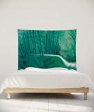 tenture-chambre-S-lit-140-vert-suzy-vergez-foret