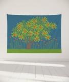 tapisserie-murale-L-lit-180-bleu-fonce-jennifer-yerkes-fleurs-d-inde