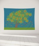 tapisserie-murale-L-lit-180-bleu-clair-jennifer-yerkes-fleurs-d-inde