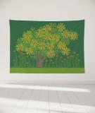 tapisserie-murale-L-lit-180-vert-fonce-jennifer-yerkes-fleurs-d-inde