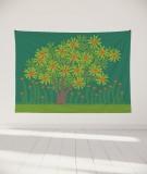 tapisserie-murale-L-lit-180-vert-clair-jennifer-yerkes-fleurs-d-inde