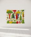 tenture-murale-S-lit-140-vert-jaune-laurent-moreau-foret