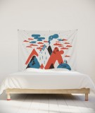 tenture-chambre-S-lit-140-orange-laurent-moreau-volcan