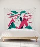 tenture-murale-L-lit-180-rose-laurent-moreau-volcan
