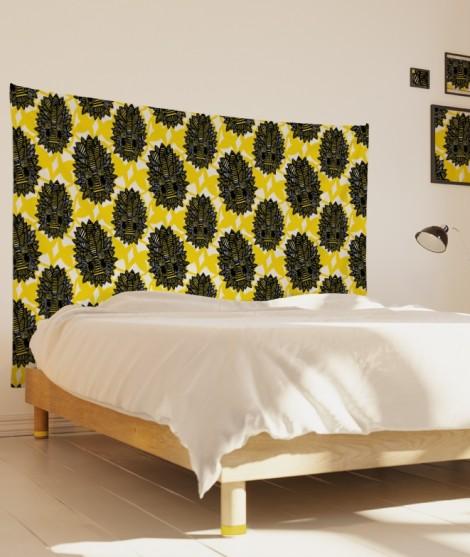 tenture-M-lit-160-jaune-grand-myriame-el-jorfi-az