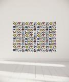 tenture-murale-S-lit-140-bleu-jaune-rouge-grand-myriame-el-jorfi-han