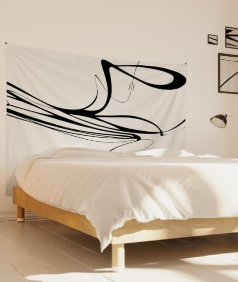 tenture-M-lit-160-noir-blanc-eclisse-svefn-g-englar