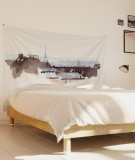 tenture-chambre-S-lit-140-blanc-marron-toits-de-paris-hossein-borojeni