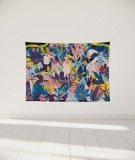 tenture-murale-S-lit-140-rose-jaune-bleu-morgane-bezou-faune