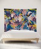 tenture-murale-L-lit-180-rose-jaune-bleu-morgane-bezou-faune