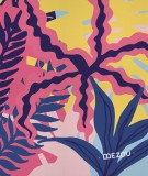 tete-de-lit-en-tissu-rose-violet-bleu-morgane-bezou-faune