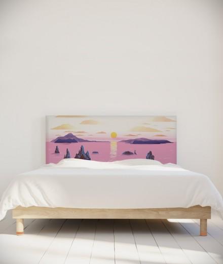 Nikol Tête de lit Jellyfish and sunset