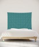 tenture-chambre-S-lit-140-turquoise-Nour-Paraja