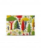 Tête de lit 160 cm Jaune Vert Laurent Moreau Forêt