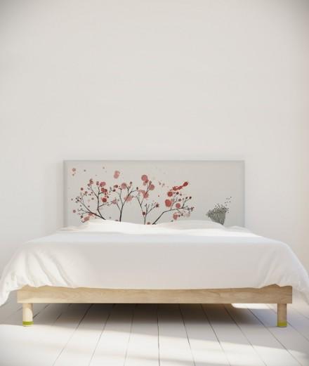 Tête de lit 160 cm Rose Blanc Axelle Grosperrin Arbre
