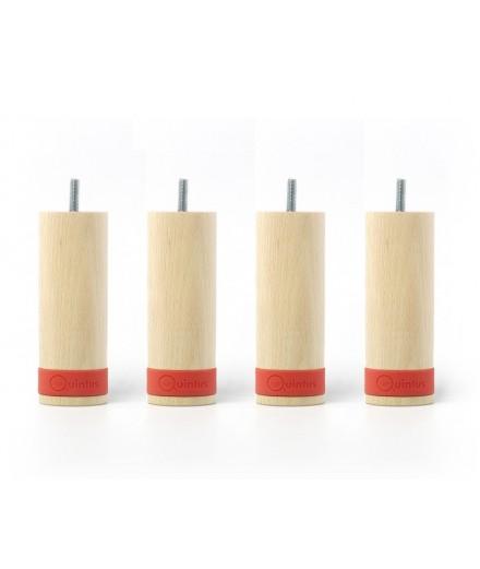 pied de lit myquintus wood 15 cm bois et silicone