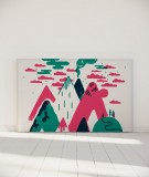 Tête de lit 180 cm Vert Rose Laurent Moreau Volcan