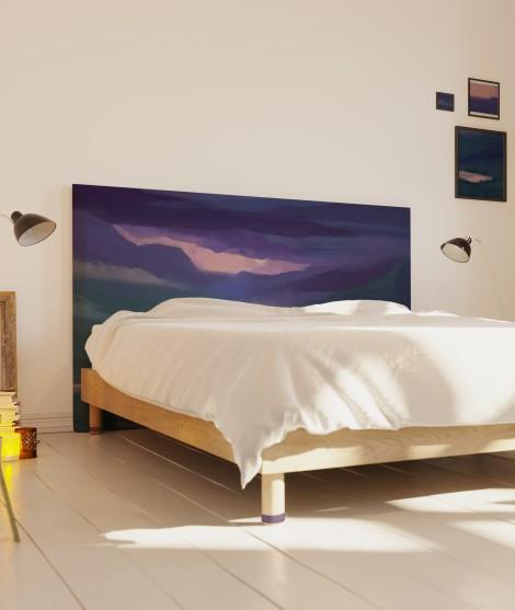 Tête de lit originale - paysage ciel