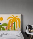 Housse tête de lit tropicale