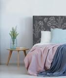 Tête de lit motif oiseaux