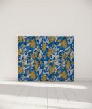 Tête de lit 140 cm Bleu Jaune Marion Hamaide Flamant