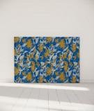 Tête de lit 160 cm Bleu Jaune Marion Hamaide Flamant