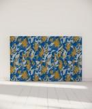 Tête de lit 180 cm Bleu Jaune Marion Hamaide Flamant