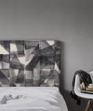 Housse tête de lit déco motifs géométriques