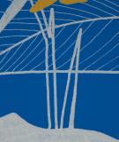 Tête de lit Bleu Jaune Marion Hamaide Flamant