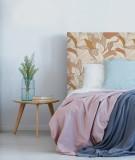 Tête de lit tissu pattern végétal