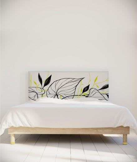 Tête de lit design motif vegetal