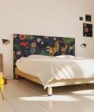 Tête de lit en tissu motif tigre