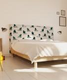 Tête de lit 160 cm Blanc Vert Organe Kauffmann Ça pique