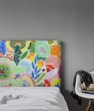 Tête de lit tissu - motif floraux