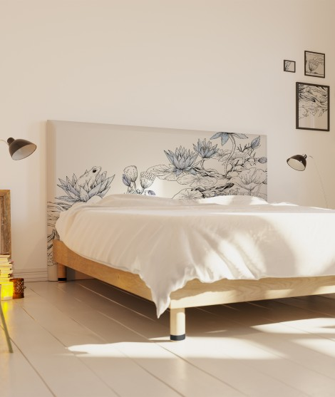 Tête de lit zen lotus