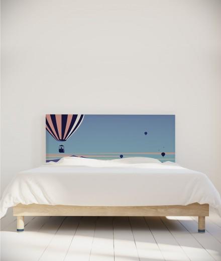 Housse tête de lit - motif montgolfière