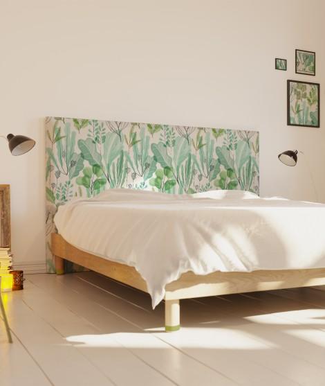Tête de lit motif végétal