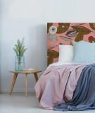 Tête de lit design - motifs exotiques