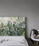 Tête de lit déco oiseaux