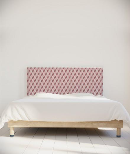 Tête de lit tissu - motif géométrique