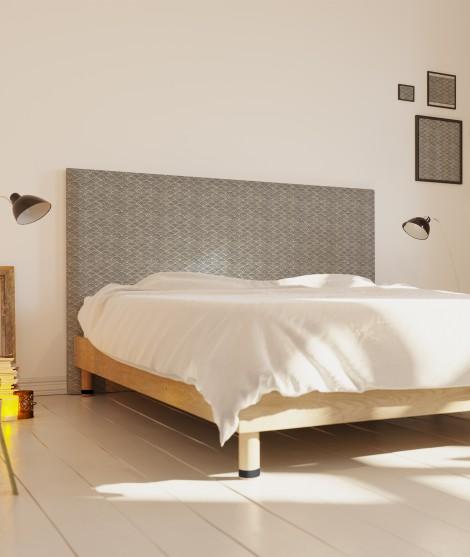 Tête de lit tissu - motif vagues