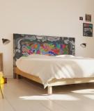 housse tête de lit déco style pop art