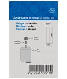 Adaptateur Fixation M8 vers diametre 10 mm non fileté