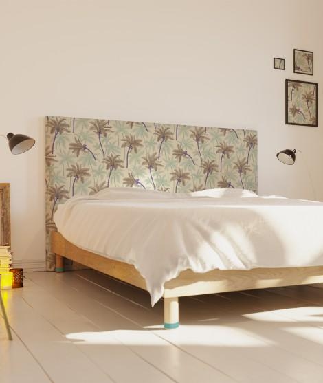 Tete de lit déhoussable palmier